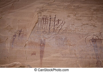 Ancient Indian Pictographs - Fremont indian culture...