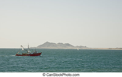 Mexican Shrimping Boat - Shrimping Boat on the Sea of Cortez...