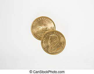 Gold Krugerrand Coins - One Ounce gold Krugerrand coins from...