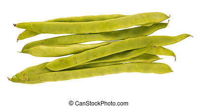 String beans, isolated against background