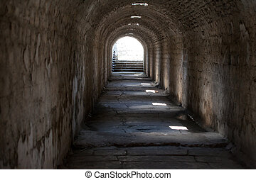 Underground access to the Temple of Telesphorus in Roman...
