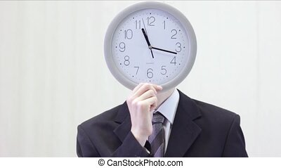 Businessman With Clock Face - 2
