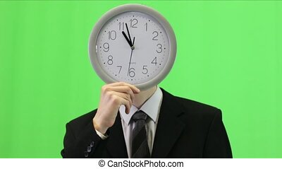 Businessman With Clock Face - 1