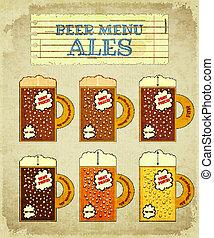Vintage Beer Card. Ales