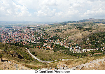 Bergama - the view on the city from Acropolis