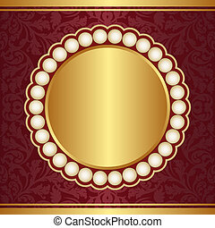 ornate crimson background - crimson and gold background with...