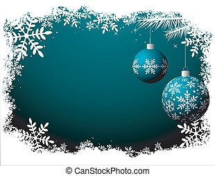 Night scene - Christmas background Vector - No transparency...