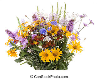 Bouquet.  Isolated with clipping path