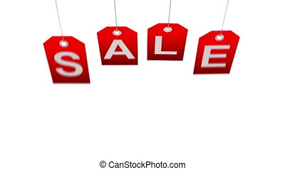 Holiday sale - Sale concept, formed of red tags; great for...