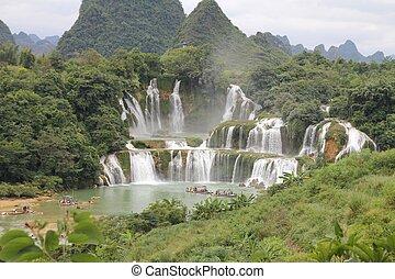 Detian Falls, at the border between China and Vietnam.