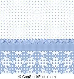 Blue polka dots/hearts background