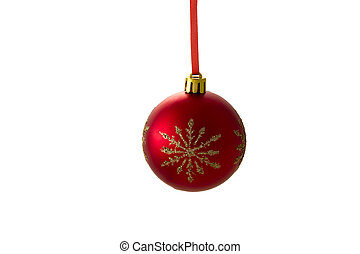 red ball - Christmas tree decorations - red ball with...