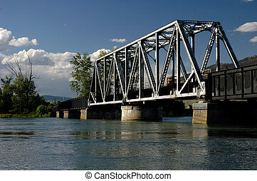 Railroad Bridge - A train bridge over a river