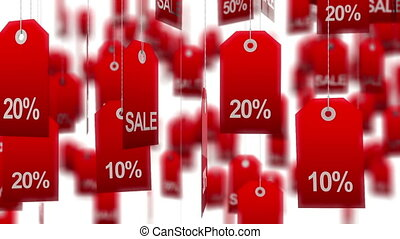Sale tags. high quality render