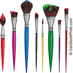 Different paintbrush