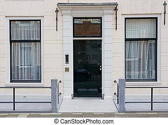 Front door of Dutch town house