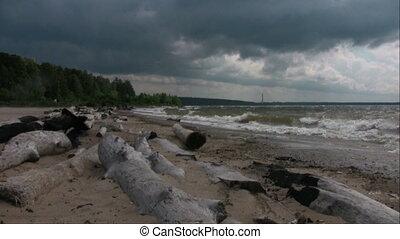 Storm sky over the beach