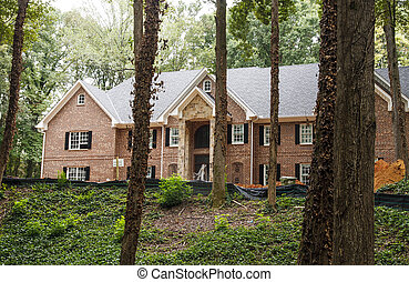 Large Brick Home Under Construction
