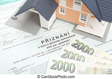Property transfer tax form - Czech property transfer tax...