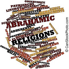 Word cloud for Abrahamic religions - Abstract word cloud for...