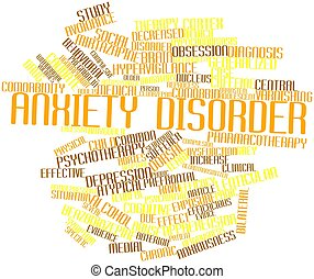Anxiety disorder - Abstract word cloud for Anxiety disorder...