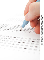Student test exam - Student complete the questionnaire...