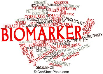Biomarker - Abstract word cloud for Biomarker with related...