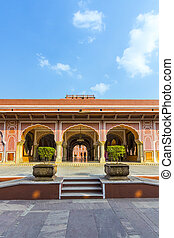 Chandra Mahal in City Palace, Jaipur, India It was the seat...