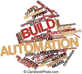 Word cloud for Build automation - Abstract word cloud for...