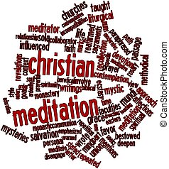 Christian meditation - Abstract word cloud for Christian...
