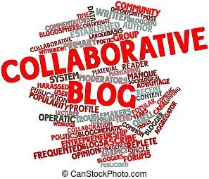 mot, nuage, Collaborative, blog