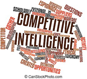 Competitive intelligence - Abstract word cloud for...