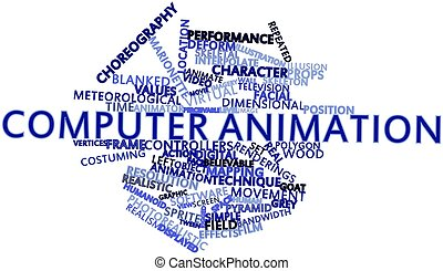 Computer animation - Abstract word cloud for Computer...