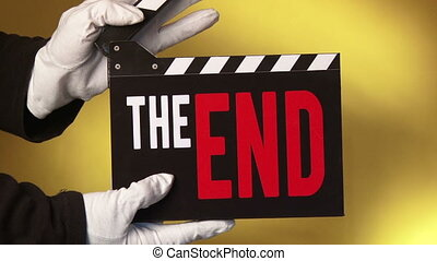 Clapper - The End - 3 clips - Clapboard, The End, 3 short...