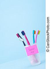 Dentist visit reminder - Dentist visit concept - four...