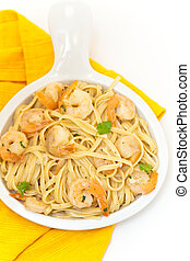 Shrimp Pasta - A healthy dish of shrimp scampi pasta