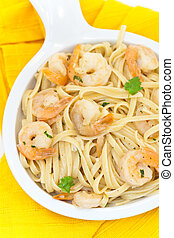 Shrimp Scampi Pasta Dish - A healthy dish of shrimp scampi...