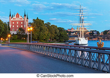 Evening scenery of Stockhom, Sweden - Evening summer scenery...