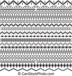 Texture with geometrical ornaments - black & white