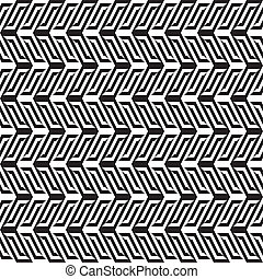 Abstract black & white pattern 1