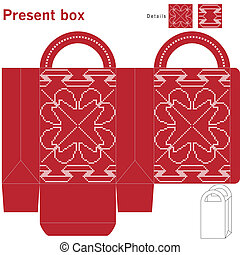 Decorative christmas box