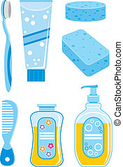 Set of things for bathing - Vector illustration It is...