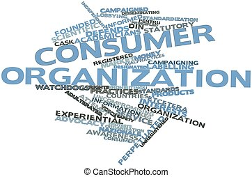 Word cloud for Consumer organization - Abstract word cloud...