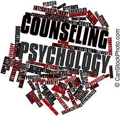 palabra, nube, Asesoramiento, psicología