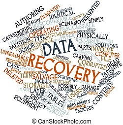 Word cloud for Data recovery - Abstract word cloud for Data...