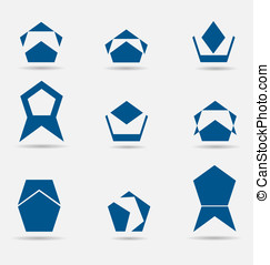 Abstract business icons/logos