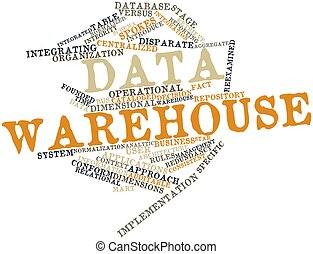 Data warehouse - Abstract word cloud for Data warehouse with...