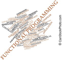 Functional programming - Abstract word cloud for Functional...