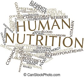 Human nutrition - Abstract word cloud for Human nutrition...