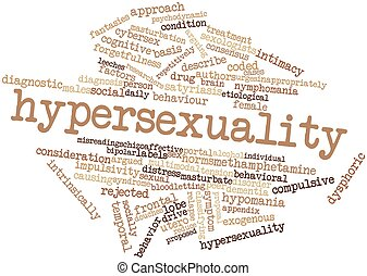 Word cloud for Hypersexuality - Abstract word cloud for...